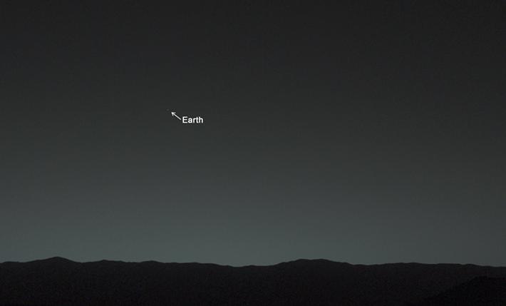 Земля, вид с Марса