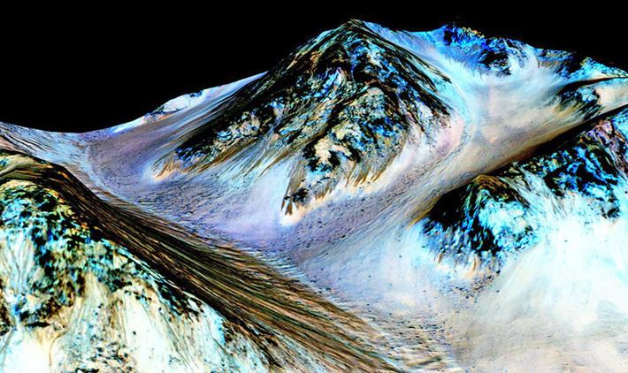 Новые доказательства того, что жидкая вода присутствует на сегодняшнем Марсе