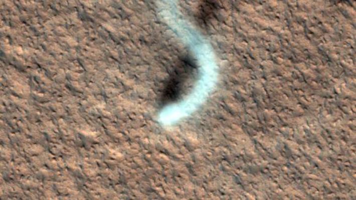 Пыльный дьявол на Марсе