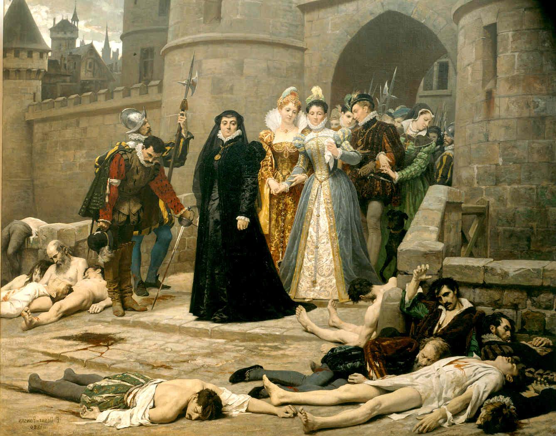 Екатерина Медичи после Варфоломеевской ночи
