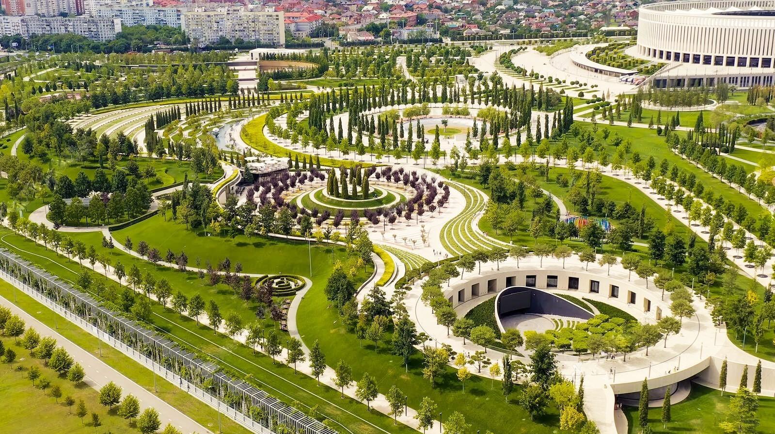 Парк Галицкого с высоты птичьего полета